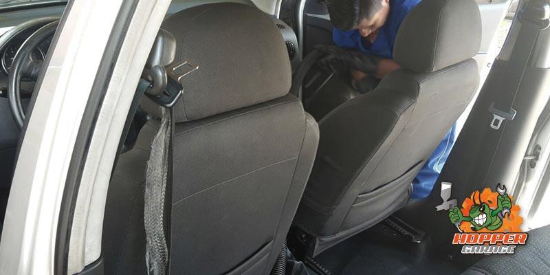 Aspirado de interiores del vehículo