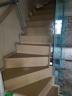 Staircase of metal
