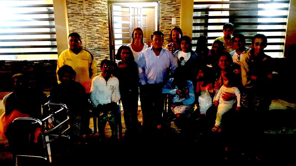 """La foto capta el momento en que la Asociación de personas con Discapacidad """"Los Girasoles"""", se reunieron para designar a sus dos representantes, el martes 06 de agosto de 2019."""