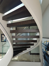 Spiral staircase finished in Metalshield