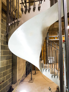 Curve of Metal Staircase