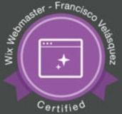 Webmaster | WIX | Diseñador cetificado de WIX Ecuador Francisco Velásquez