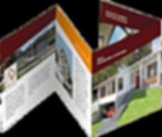 321Make | diseño editorial, diagramación, maquinación y edición de catálogos o folletos corporativos, diseño de menús, diseño de manuales en Quito - Ecuador, Archdesign plegable cuatro cuerpos