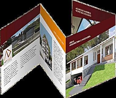 321Make   diseño editorial, diagramación, maquinación y edición de catálogos o folletos corporativos, diseño de menús, diseño de manuales en Quito - Ecuador, Archdesign plegable cuatro cuerpos