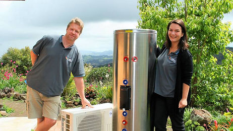 Peter and Gwen Ras, Calitec Hot Water Sy