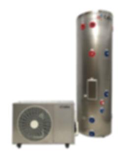 Calitec heat pump hot water system model 300 litre. Wet back options.
