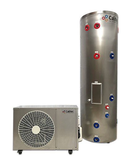 Calitec heat pump hot water system model 300 litre. Wet back options.