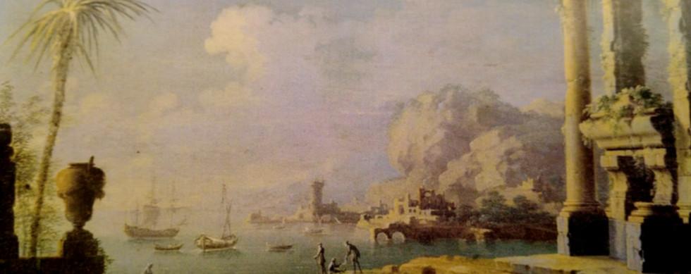 Vista de Porto de Mar com ruínas
