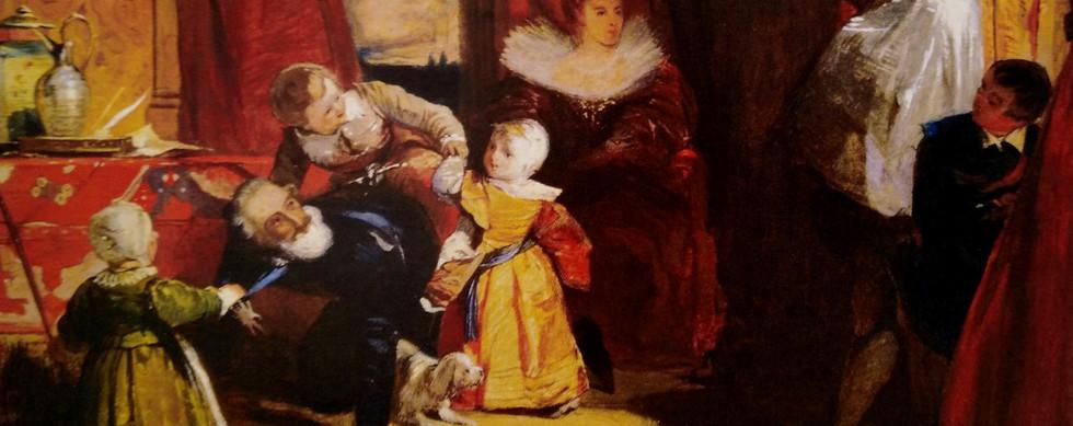 Henrique IV, rei de França, surpreendido pelo embaixador a brincar com os netos
