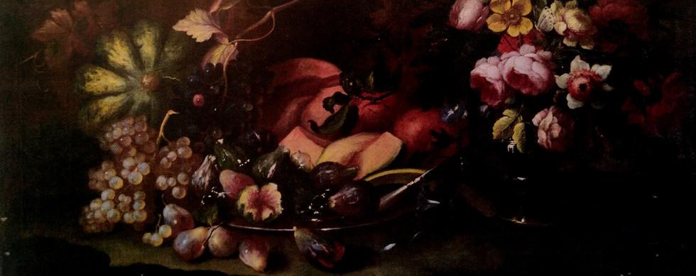 Natureza morta - Flores e frutos