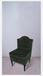 Green Velvet Chair with Black Lacquered Legs - £1,475