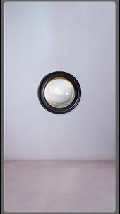Black Round Mirror with Gold Leaf Detail - Medium - £550