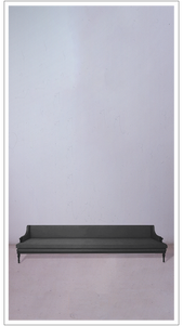 Grey Velvet Settee with Black Lacquered Legs - £5,750