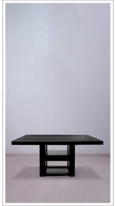 Black Lacquered Scribed Table - Large - £5,725