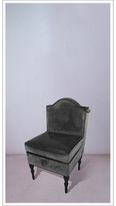Grey Velvet Chair with Black Lacquered Legs - £1,475