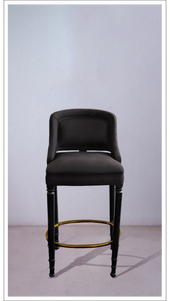 Black Stool with Black Lacquered Legs - £2,375