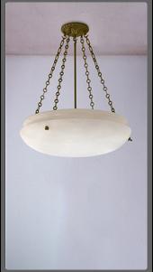 Alabaster Style Dish Pendant - £5,750