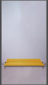 Yellow Velvet Sette with Black Lacquered Legs - £5,750