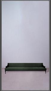 Green Velvet Settee with Black Lacquered Legs - £5,750