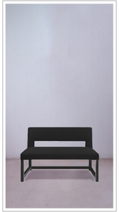 Black Ottoman Rectangle Bench with Black Lacquered Frame - £3,250
