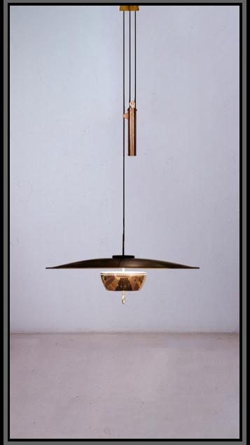 Florian Rise & Fall Pendant Lamp - Small