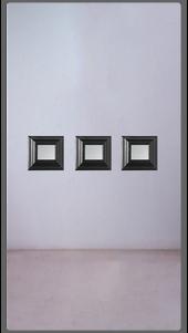 Ebonised Baby Square Mirror - £650