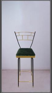 Green Velvet Perch Stool  - £1,575