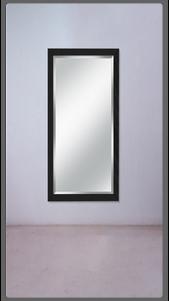 Black Lacquered Double Liquorice Strap Mirror - £2,225