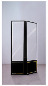 Anouska Black Lacquered Screen with Gold Leaf Detail - Bi-Fold - £5,750