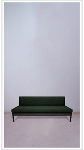 Green Velvet Banquette with Black Lacquered Legs - £3,250