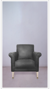 Grey Velvet Armchair with Natural Beech Legs - £2,750