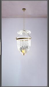 Grape Etched Hanging Lantern - £1,300