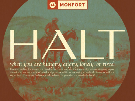 H.A.L.T. – A basic rule of decision making for success