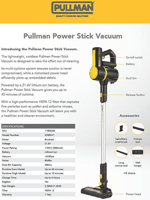 Cordless 21.6V Pullman Power Stick Vac