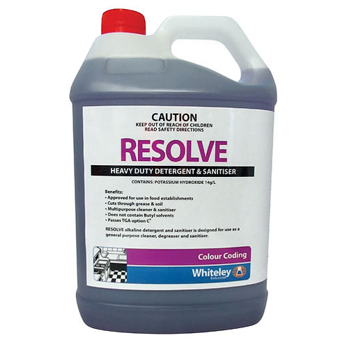 5L Resolve Detergent & Sanitiser
