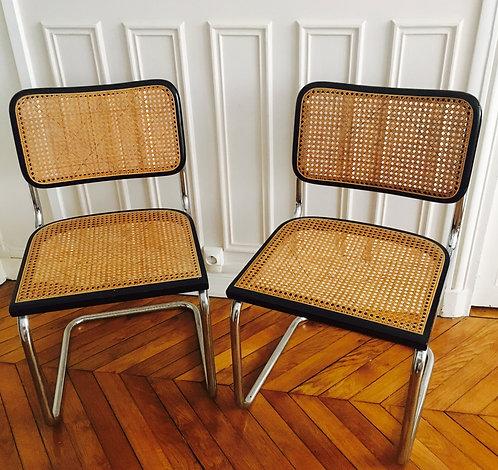 Marcel Breuer, Paire de chaises Cesca B 32
