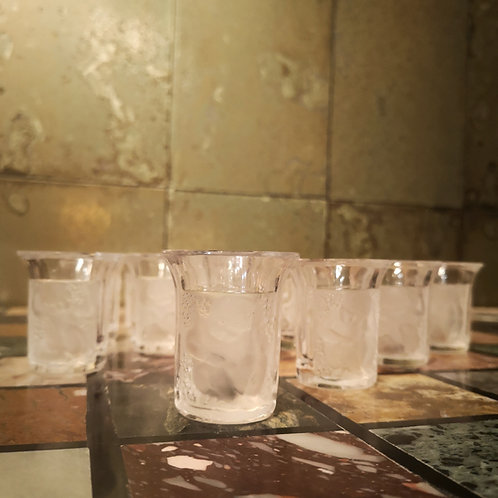 Lalique Rene Lalique verre a liqueur shot glass shooter collection enfants en cristal crystal
