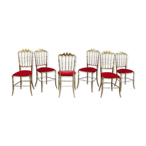 Chiavari, chaise en laiton, Glustin
