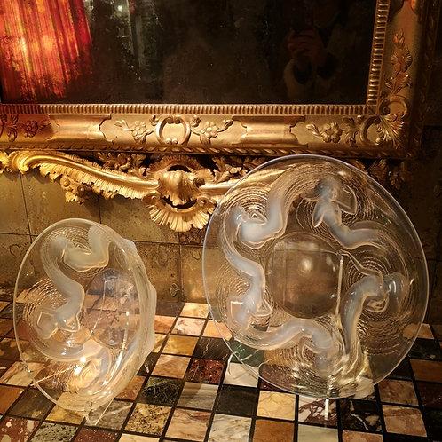 René Lalique, Calypso, Coupe et plat