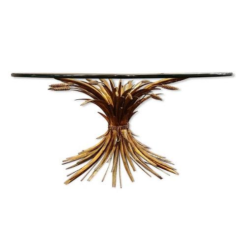 Table épis Coco Chanel Robert Goossens maison Rapin metal doré