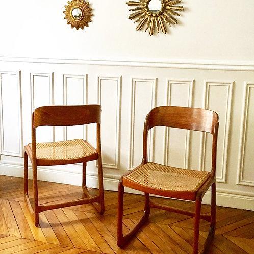 """Baumann, 4 chaises """"Traineau"""""""