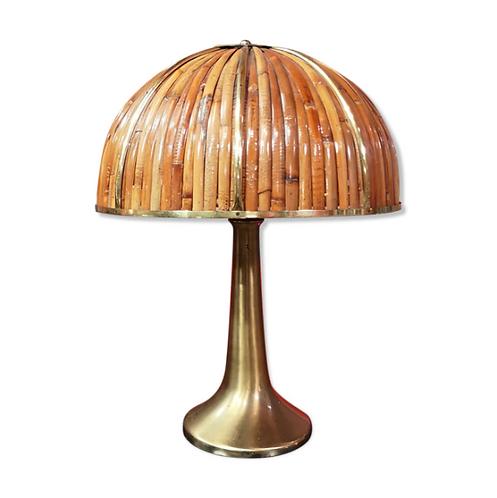 Gabriella Crespi, Fungo lamp, Rising Sun, bamboo, brass