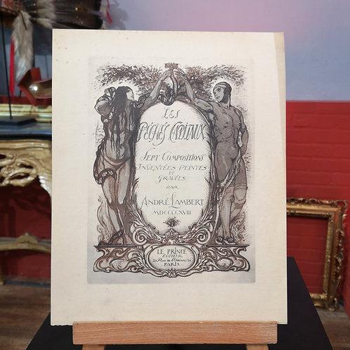 André Lambert, Les sept péchés capitaux, 1918, Gravures éditéespar LE PRINCE à PARIS