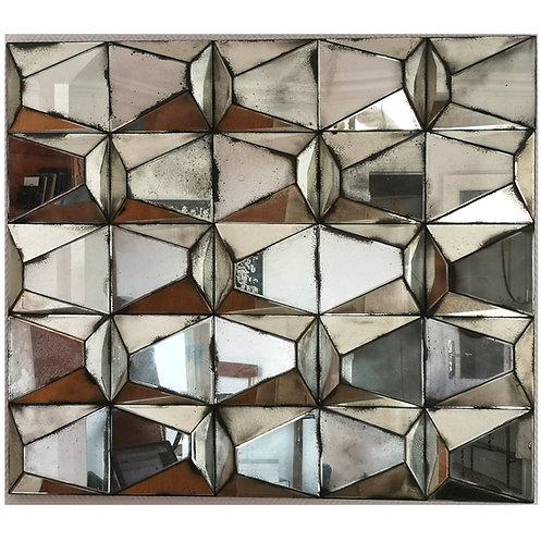 Miroir facetté miroir vintage miroir mercurisé