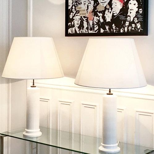 Jean Roger, Paire de lampes colonne neo-antique