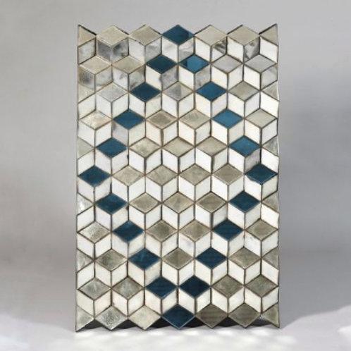 Miroir design à facette, Hommage Vasarely