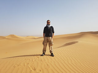 In the Sahara.jpg Matt Deeley, London & Edinburgh Focus Puller, 1st Camera Assistant