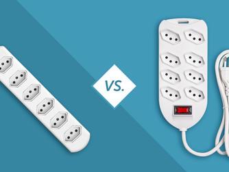 Veja o que difere a régua de tomada do protetor eletrônico