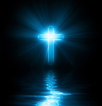 a-christian-cross-with-blue-glowing-ligh
