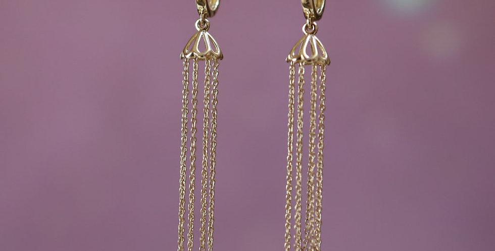 14k Gold Chandelier Earrings